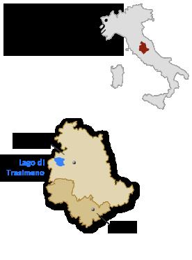 italië umbrië kaart